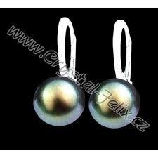 swarovski sede stříbrný set jm zdobený perlami swarovski šedé perly anglické