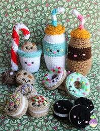 Amigurumi Christmas Ornaments - christmas ornaments crochet pattern amigurumi food milk and