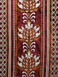 Burgundy Velvet Curtains Maia Antique Damask Rod Pocket Velvet Curtains