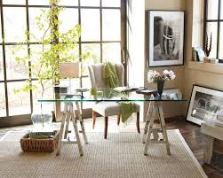 Home Office Glass Desks Glass Top Desk Polished Nickel Williams Sonoma