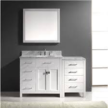 Bathroom Vanity With Offset Sink Bathroom Vanities Virtu Usa 57 U0027 U0027 Caroline Parkway Single Round Or