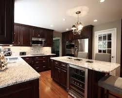 Dark Cabinets With Light Granite Awesome Dark Cabinets With Light