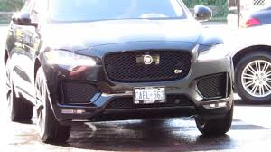jaguar f pace black 2017 jaguar f pace s with custom 19 inch black rims youtube