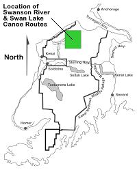 Seward Alaska Map by Alaska Canoe Day Trips In The Kenai Wildlife Refuge