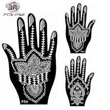 2 pair indian henna tattoo stencil flower hand mehndi henna