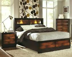 king headboard with lights gorgeous headboard with shelves king