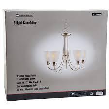 Chandelier Size Boston Harbor A2242 6 5 Light Chandelier Brush Nickel Amazon Com