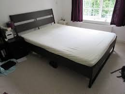 ikea trysil double bed frame with malfors foam mattress in
