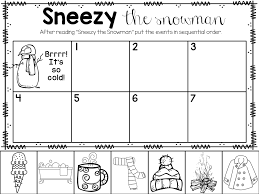 sneezy snowman printable freebie kinderland collaborative