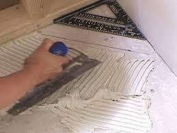 how to install diagonal floor tile how tos diy