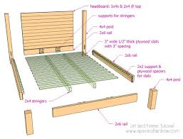 Bed Frame Plans Diy Bed Frame And Wood Headboard A Of Rainbow