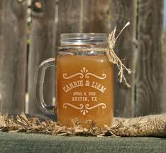 rustic jar barn wedding decor rustic toasting glasses