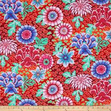 kaffe fassett home decor fabric kaffe fassett collective dream red discount designer fabric