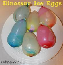 dinosaur ice eggs teaching mama