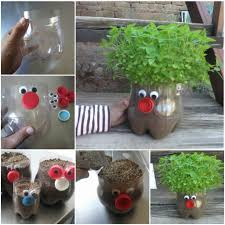 how to make recycled plastic bottle planter how to instructions
