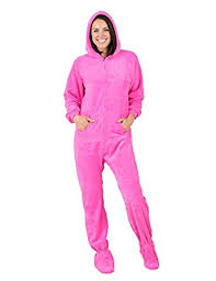 footed pajamas pink hoodie chenille clothing