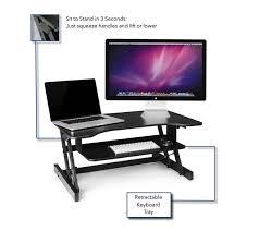 Sit Stand Desk Converter by Standing Desk The Deskriser Height Adjustable Heavy Duty Sit