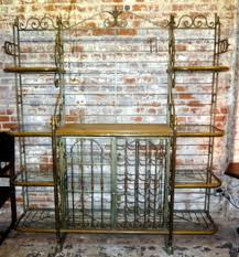Bakers Rack Wrought Iron Shelves Brackets Bakers Racks Hall Trees Archives Antiques