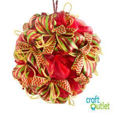 creating a deco mesh christmas ball u2013 craft outlet inspiration