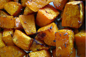 roasted sweet potatoes healthy thanksgiving recipe
