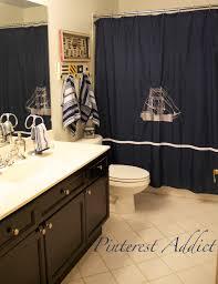 Nautical Bathroom Curtains Bathroom Nautical Bathroom Decorating Ideas Themed Bathrooms