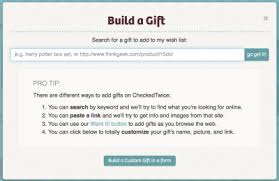 checkedtwice help add gifts to your wish list claim gifts for others