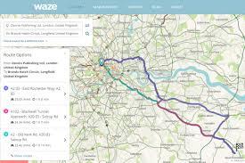 Waze Map Waze Best Online Route Planners 2016 Group Test Auto Express