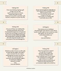 bridal registry ideas list wedding information wording exle wedding ideas