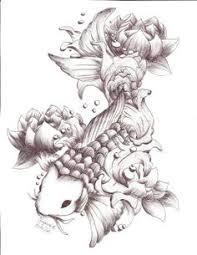 carpa feminina tattoo sketch koi fish chrisyamamoto fish