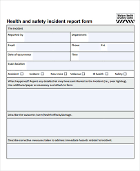 monthly health and safety report template safety report templates 12 free sle exle format