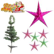 Christmas Decorations Online Bangalore by Buy Send Merry Christmas Tree With Big N Small Stars 114 Online