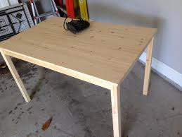 table pour cuisine ikea she makes 2 holes in an ikea kitchen table to create something