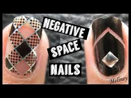 negative space nails meliney how to nail foil design tutorial