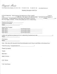wedding itinerary template wedding mc template 28 images run sheet template 6 free word