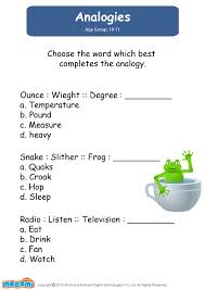 analogy worksheets for kids free worksheets library download and