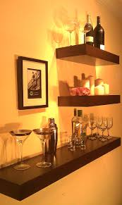 style winsome led floating bar shelves wall mounted wine rack