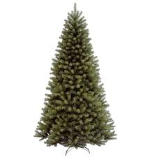 national tree company 7 ft north valley spruce hinged artificial