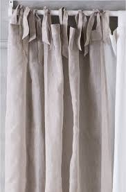 Tie Top White Curtains Vasetti Tie Top Linen Voile Curtain