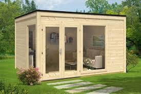gartenhaus design flachdach pultdach und co die dachformen gartenhäusern