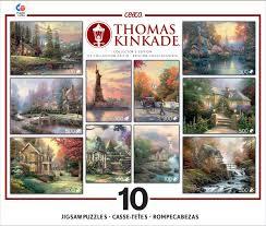 deluxe sets kinkade jigsaw puzzle kinkade 10 in 1