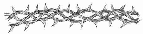 beautiful grey ink barbed wire design