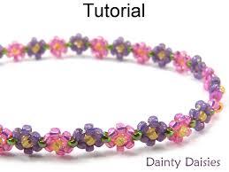 make bead flower bracelet images Daisy stitch beading pattern jewelry making tutorial bracelet jpg