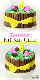 easy diy easter kit kat cake tutorial for a stunning holiday