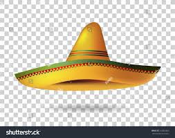 halloween card transparent background mexican sombrero hat transparent background mexico stock vector