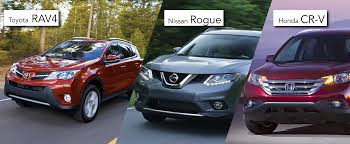 suv toyota inside the toyota rav4 vs the honda cr v and the nissan rogue