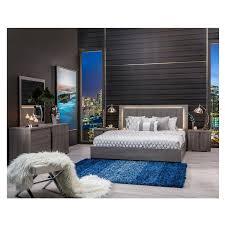 King Platform Bedroom Sets Tivo King Platform Bed Made In Italy El Dorado Furniture Bedroom