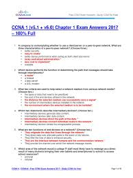 ccna 1 v5 1 v6 0 chapter 1 exam answers 2017 u2013 100 full