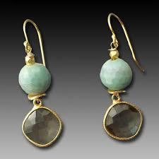 smoky quartz earrings smoky quartz bezel with blue earrings jewelry by