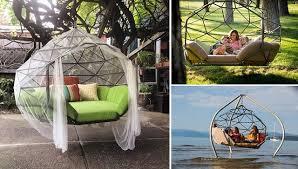 kodama zome beautiful geometry inspired hanging hammock sofa home design