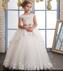 vintage communion dresses vintage lace flower girl dresses for weddings ivory tulle